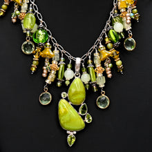 Jewelry On Sale Chandelier Necklace Peridot Lemon Quartz Handmade Green Yellow
