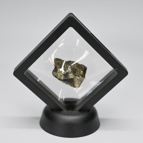 Framed Pyrite Specimen Black Decor
