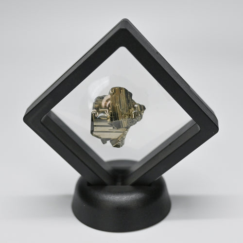 Pyrite Enclosed In Black Plastic Display Budget Home Decor