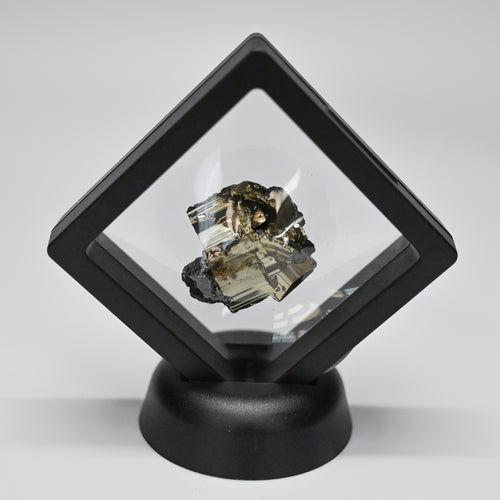 Pyrite Mineral Specimen Display Black
