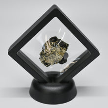 Pyrite Mineral Framed In Black Display