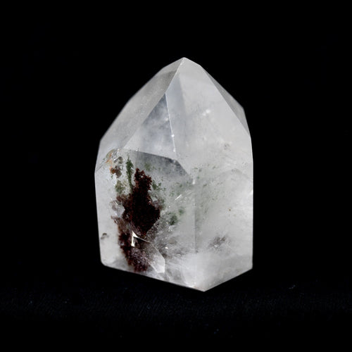 Brazilian Polished And Cut Crystal Point With Chlorite