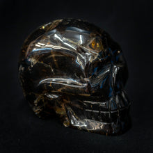 Hand Carved Rutilated Quartz Skull