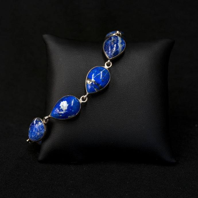 Lapis Bracelet In Sterling Silver