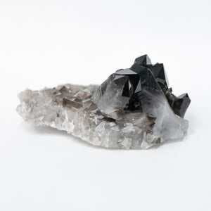 Enhanced Black Arkansas Quartz Crystal Cluster