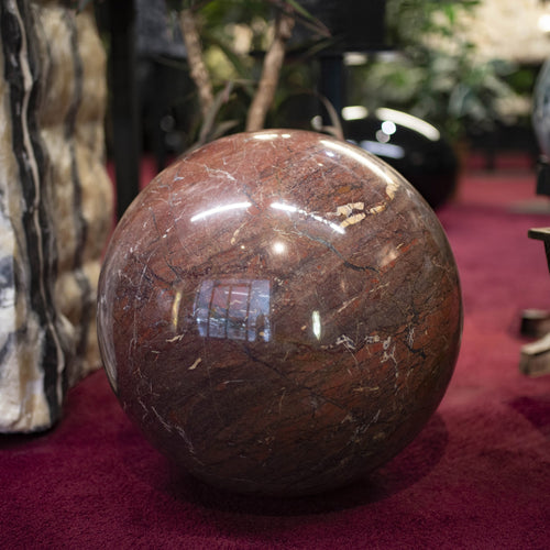 Large Jasper Sphere Luxury Decor