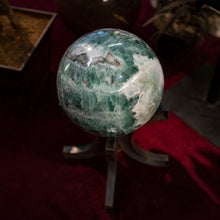 Natural  14 Inch Fluorite Sphere With Display Stand