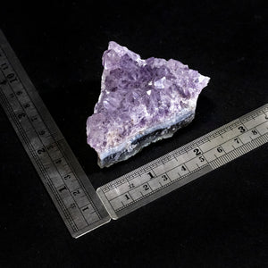 Amethyst Druzy Rock With Rulers