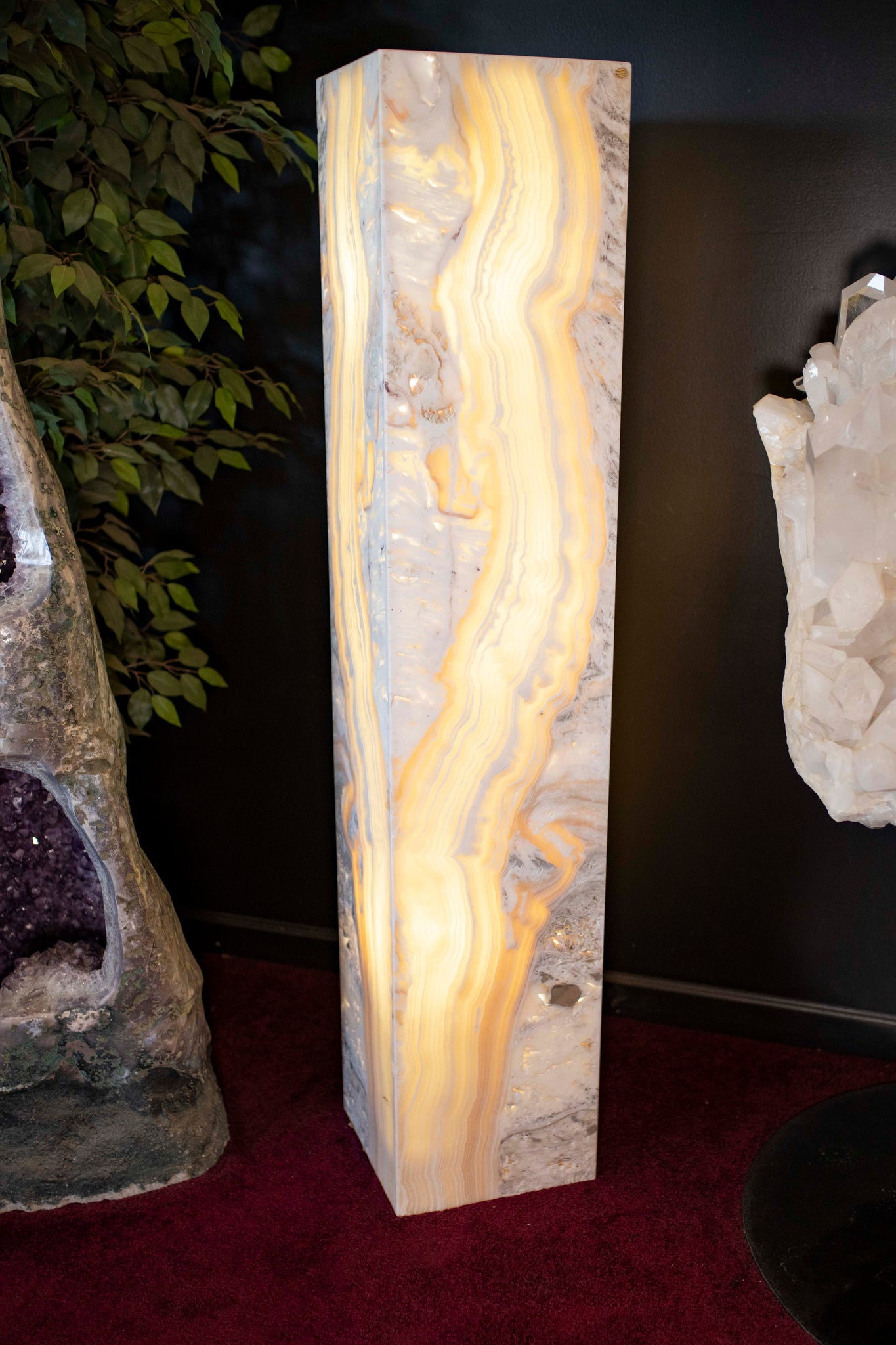 1 Luxury Decor Mineral Floor Lamp Carved Onyx Ron Coleman Mining