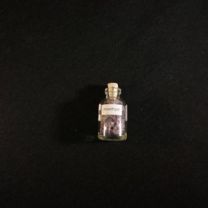 Amethyst Gem Chip Bottle