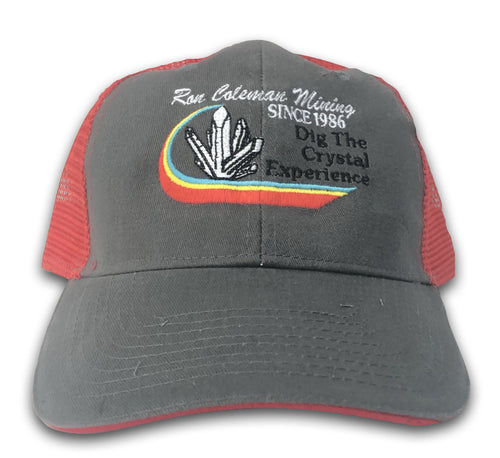 Gray And Red Baseball Cap Ron Coleman Mining Souvenir