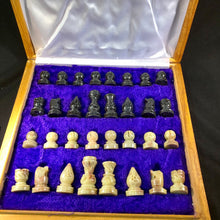 carved soapstone chess pieces