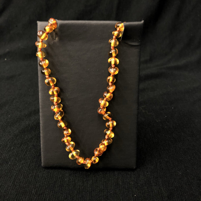 Amber Bead Necklace Baby Jewelry