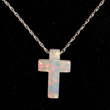 Carved Opal Cross