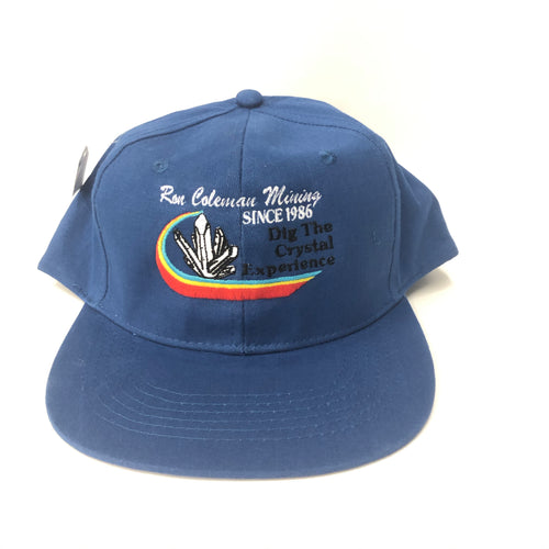 Royal Blue Baseball Cap Ron Coleman Mining Souvenir