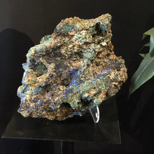 Azurite With Malachite Mineral Specimen 17 Inches Tall