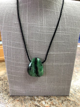 Ruby Zoisite Pendant On Black Necklace