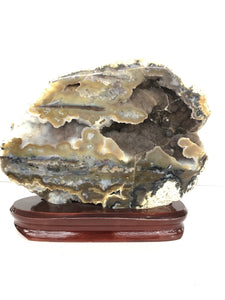 Multi Color Natural Agate On Wood Display Stand Budget Decor Ideas