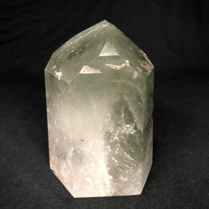 Unique Rock Specimen Brazilian Quartz Cut Polished Chlorite #4