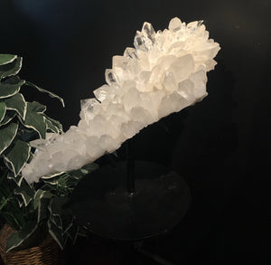 Side View of Large, Finest Quality Quartz Crystal Cluster