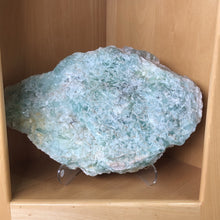 large fluorite on stand