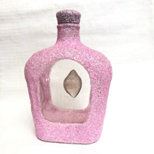 Back Of Sparkling Pink Upcycled Bottle