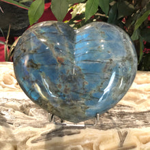 Labradorite Specimen Carved Heart Shape
