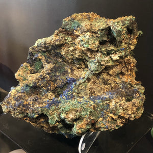 Close Up Of Azurite With Malachite Specimen Mineral Home Decor