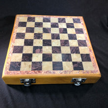 soapstone chess set in wooden box