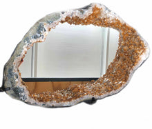 Citrine Druzy Crystal Mirror