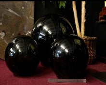 15 Inch Obsidian Sphere Shown With Grouping
