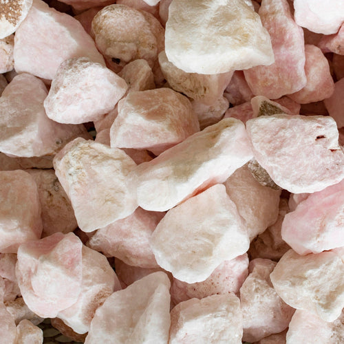 Rose Quartz Chips Uncut Unpolished Raw Rough Stone Specimen