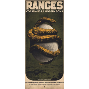 RANGES / COASTLANDS - 10.23.2018 The Filling Station [Poster]