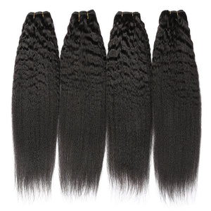 Kinky Straight Wefted Remy Hair