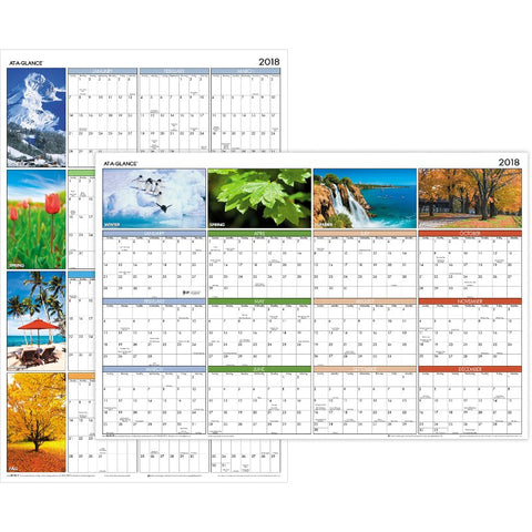 At-A-Glance Seasons in Bloom Erasable/Reversible Wall Planner