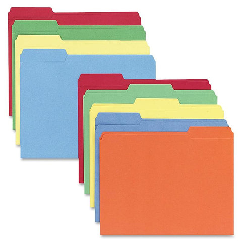 Sparco 1-ply 1/3-cut Tab Colored File Folders