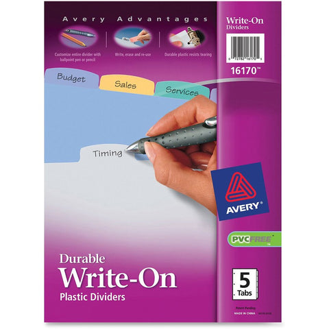 Avery Big Tab Write & Erase Plastic Dividers