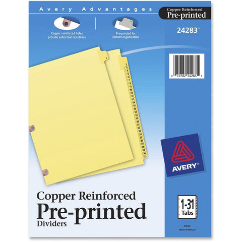 Avery Copper Reinforced Preprinted Index Divider
