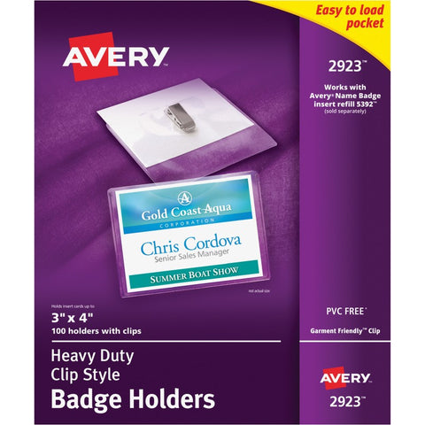 Avery Clip Style Badge Holders