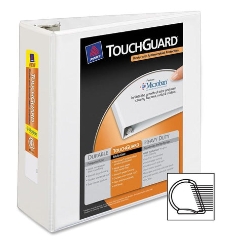 Avery TouchGuard Antimicrobial View Binders with Slant Rings