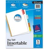 Avery Big Tab White Insertable Dividers - Gold Reinforced