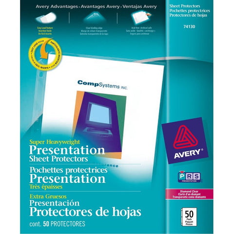 Avery Diamond Clear Super Heavyweight Sheet Protectors