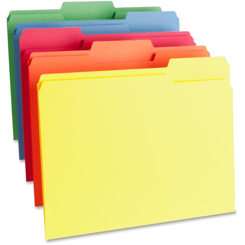 Business Source 1-Ply Color-coding File Folders