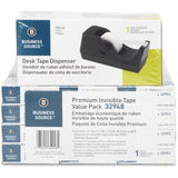Business Source Invisible Tape Dispenser Value Pack