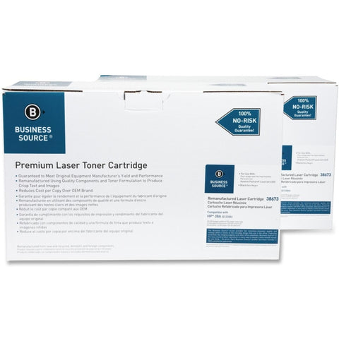 Business Source Remanufactured Toner Cartridge - Alternative for HP 38A (Q1338A)