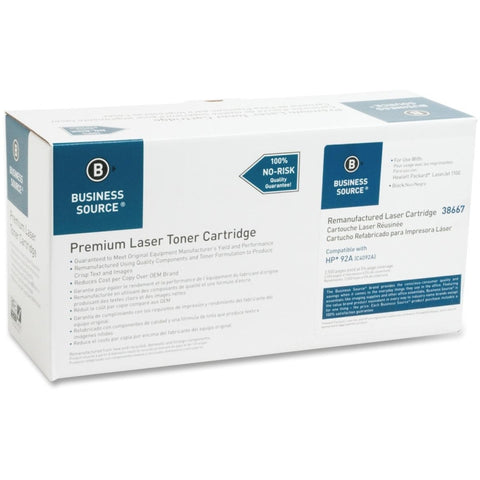 Business Source Remanufactured Toner Cartridge - Alternative for HP 92A (C4092A)
