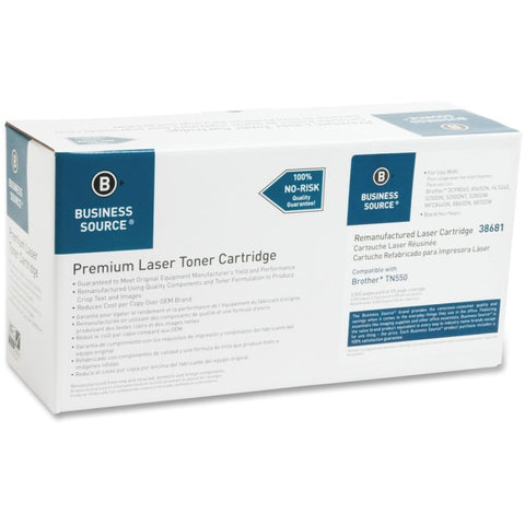 Business Source Remanufactured Toner Cartridge - Alternative for Brother (TN550)
