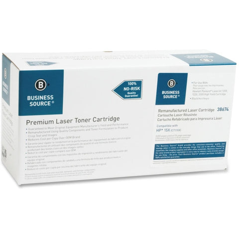 Business Source Remanufactured Toner Cartridge - Alternative for HP 15X (C7115X)