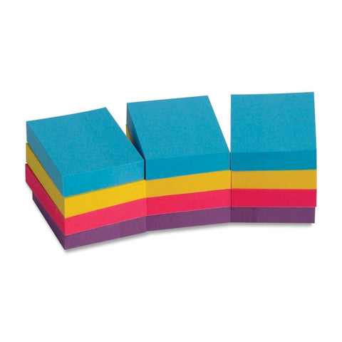 Business Source Extreme Color Adhesive Notes