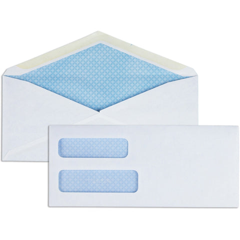 Business Source No. 10Double Window Invoice Envelopes